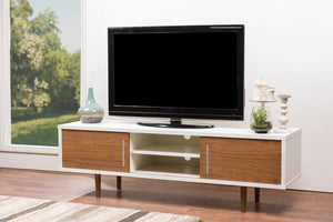 Gennie Mid Century Modern Wood Tv Stand Stands Free Shipping