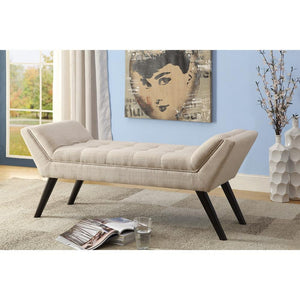 Aiden Mid Century Beige 50 Inch Bench Free Shipping