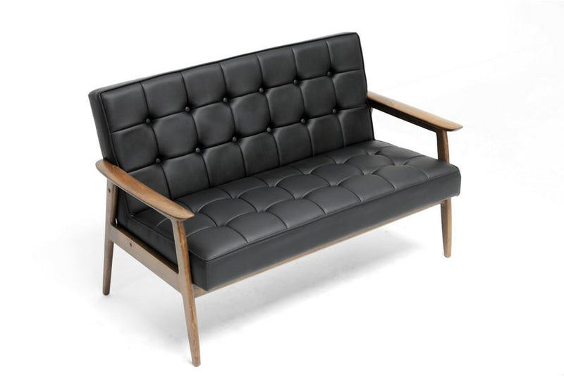 Cameron Mid-Century Black Sofa - living-essentials