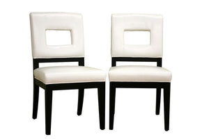 Arjun Cream Leather Dining Chair Set Of 2 Chairs Free Shipping