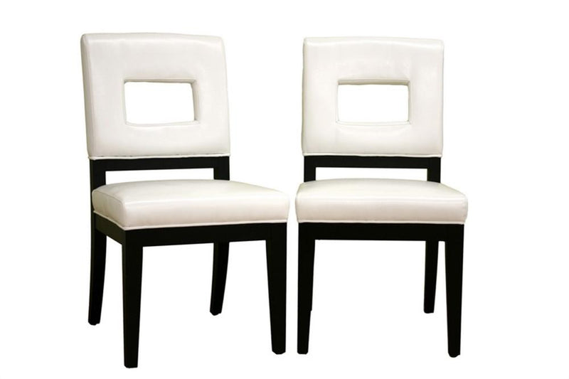 Arjun Cream Leather Dining Chair Set of 2 - living-essentials