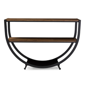 Carenza Industrial Antique Distressed Wood Console Table Free Shipping