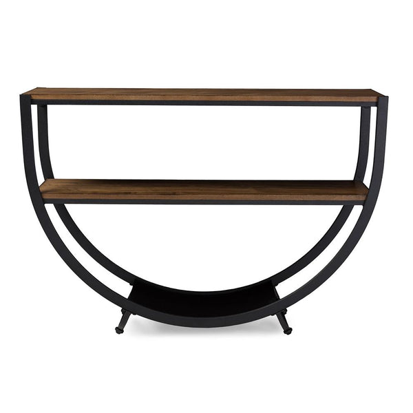 Carenza Industrial Antique Distressed Wood Console Table - living-essentials