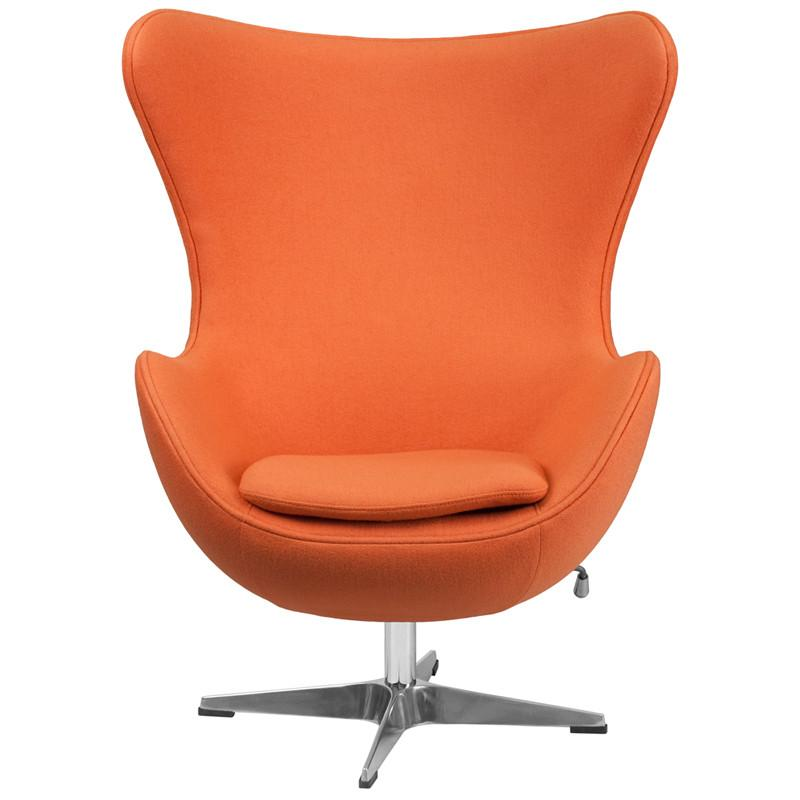 A Shapely Swivel Seat Inspired By Mid Century Design Our: Jacobsen Style Egg Wool Fabric Chair