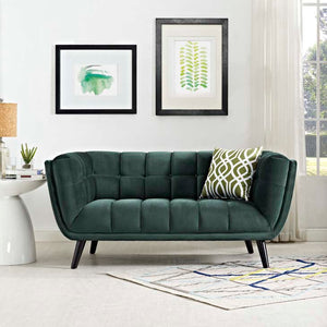 Becca Velvet Loveseat Gray Free Shipping