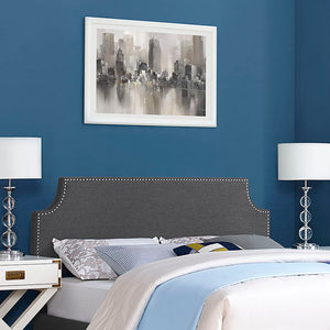 Luna Full Fabric Headboard Gray Headboards Free Shipping