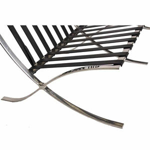 Barcelona Style Chair Frame Straps Black / Back: 25.25 | Seat: 26.75 No Replacement Parts Free Shipping