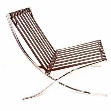 ... Barcelona Style Chair Frame Straps Dark Brown / Back: 25.25 | Seat:  26.75 No ...