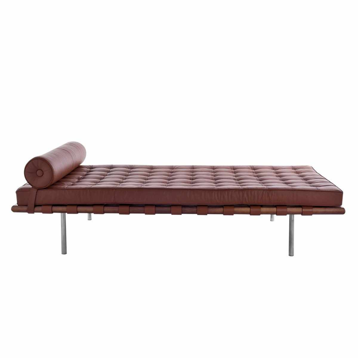 vintage italian barcelona style dining. Barcelona Style Daybed Top Grain Italian Leather / Dark Brown Walnut Benches \u0026 Daybeds Free Shipping Vintage Dining E
