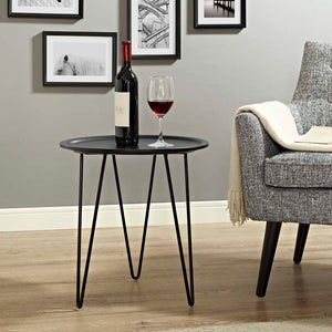 Diona Hairpin Side Table Black Free Shipping