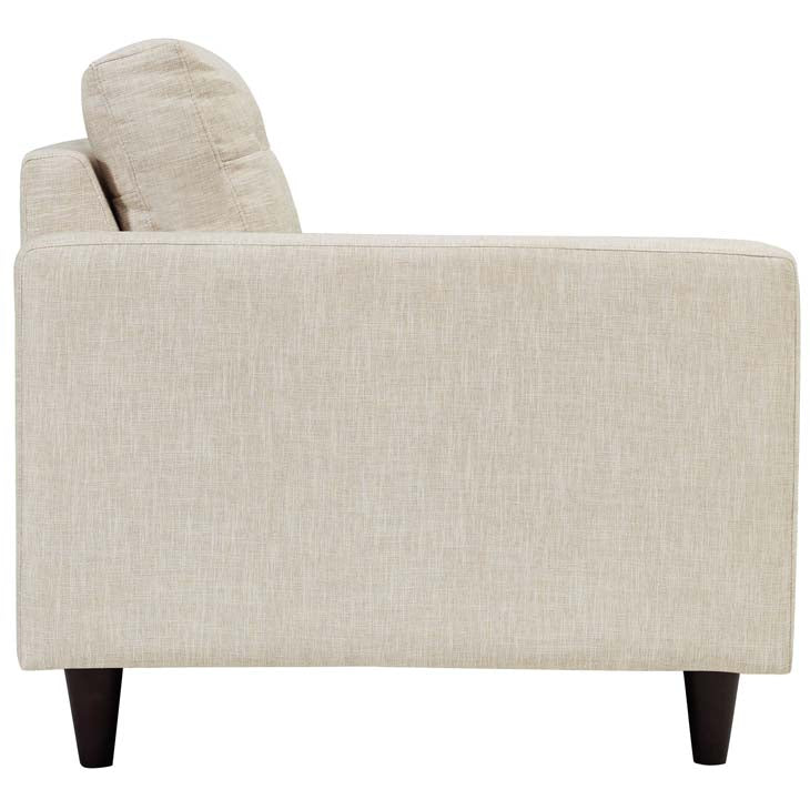 Emmy Left-facing Upholstered Fabric Loveseat - living-essentials