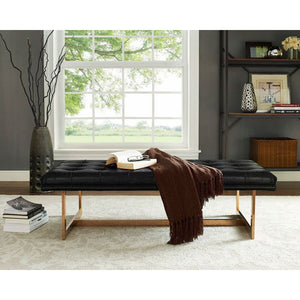 Oslo Contemporary Leather Bench - living-essentials