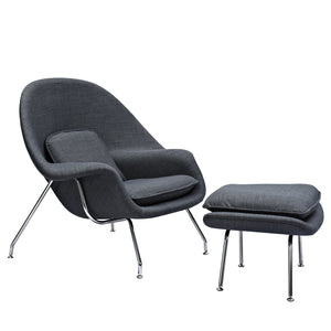 Womb Chair & Ottoman - Special Colors Charcoal Gray Chairs Free Shipping