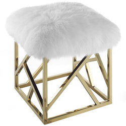 Irwin Sheepskin Ottoman - living-essentials