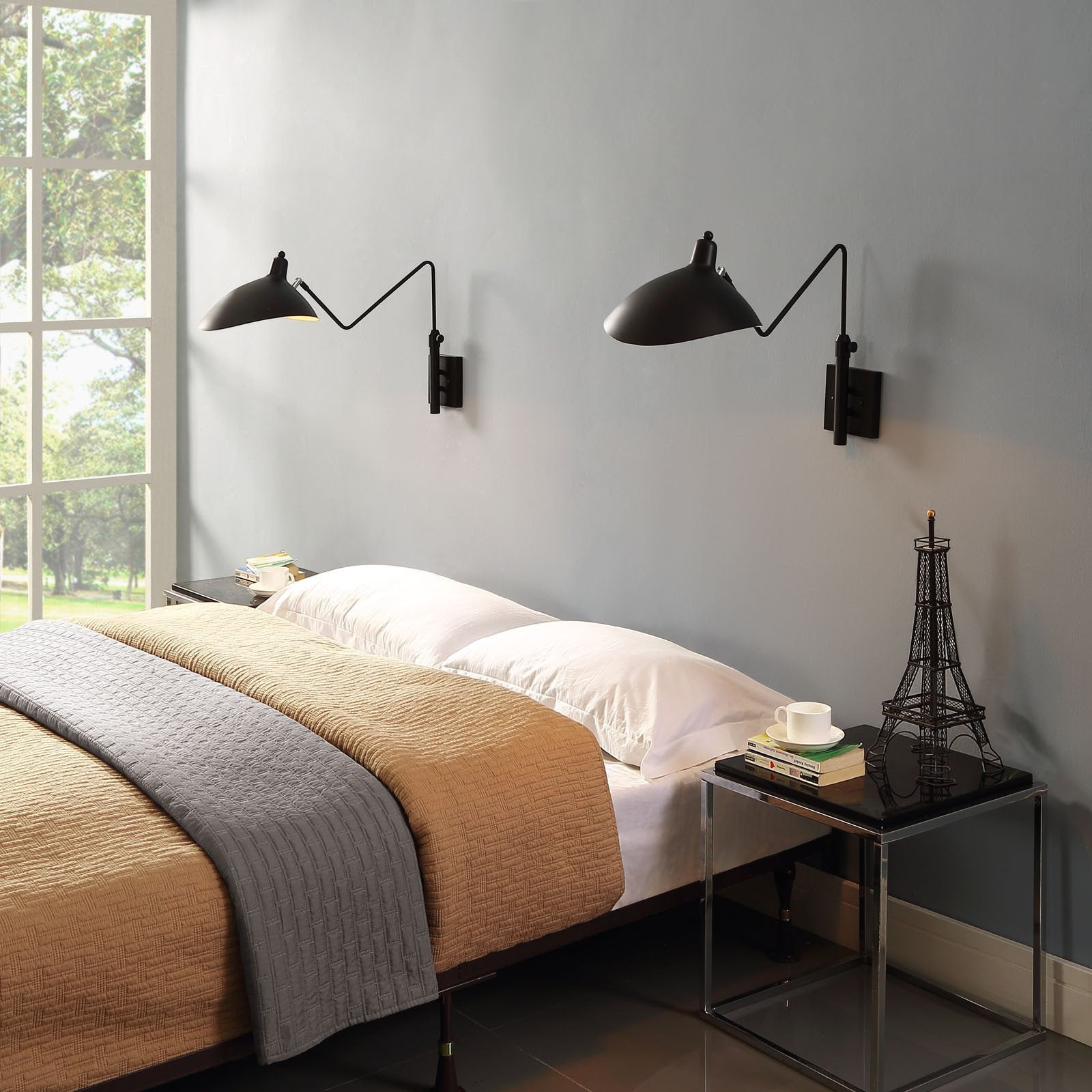 Serge Mouille Style Wall Lamp/Sconce   EMFURN