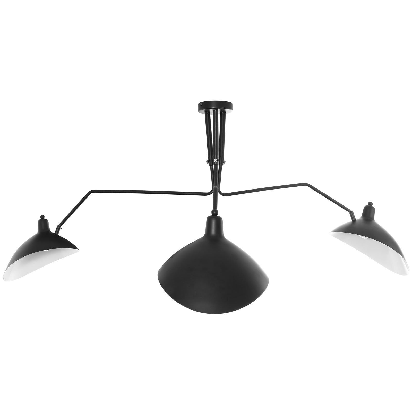 Serge mouille style three arm spider ceiling fixture emfurn serge mouille style three arm spider ceiling fixture arubaitofo Choice Image