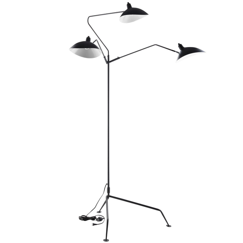 Serge Mouille Style Three Arm Standing Floor Lamp - living-essentials