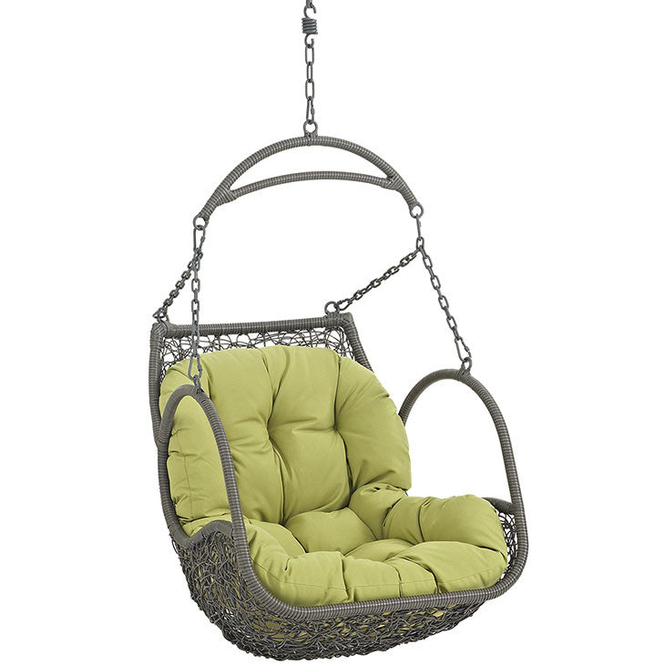 Harbor Outdoor Patio Wood Swing Chair - living-essentials