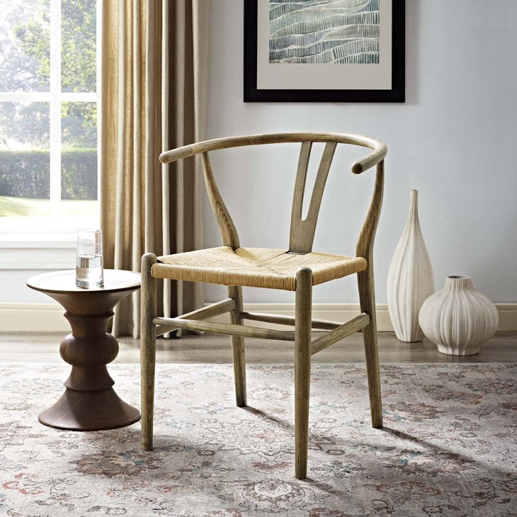 Alexander Dining Wood Side Chair in Weathered Gray