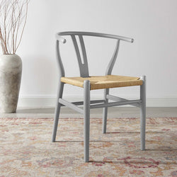 Alexander Dining Wood Side Chair in Light Gray