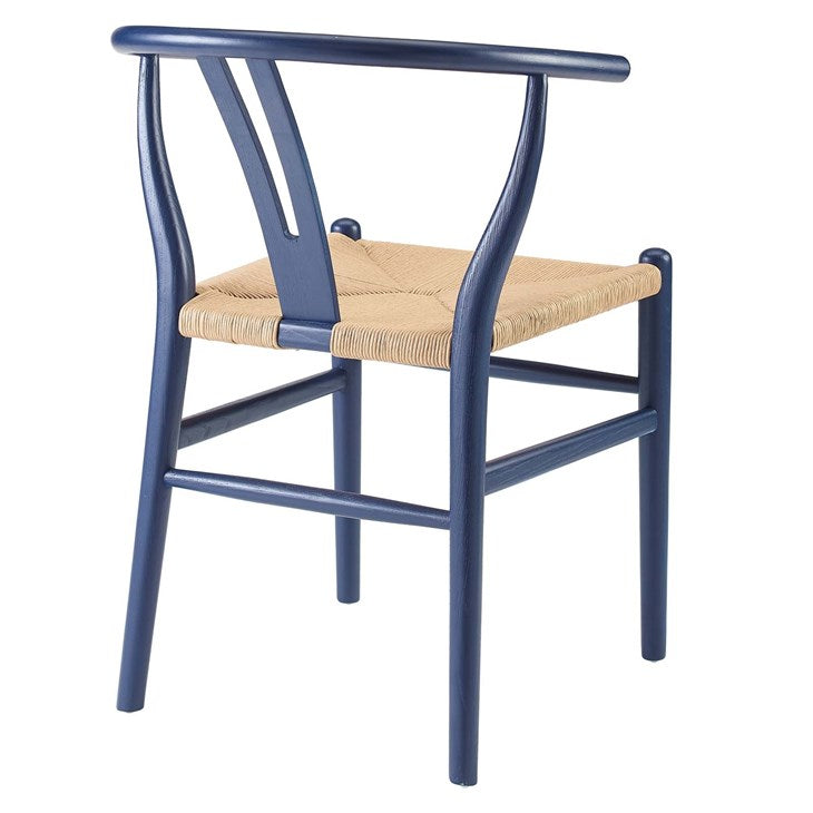 Alexander Dining Wood Side Chair in Midnight Blue