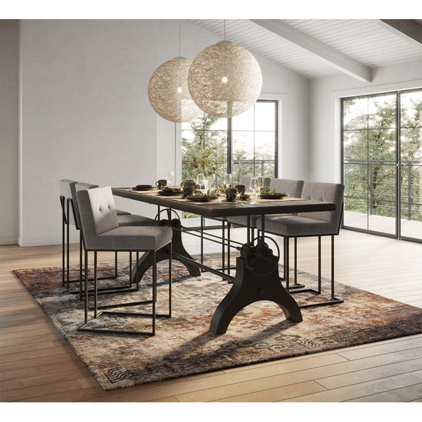Georgia Crank Height Adjustable Black Dining/Conference Table