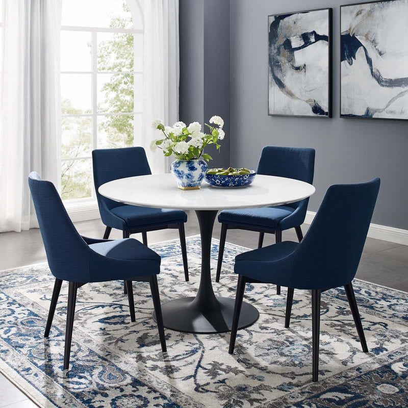 "Tulip 47"" Round Wood Dining Table"