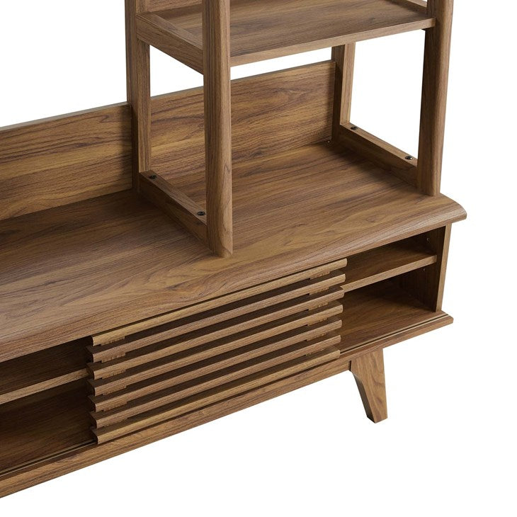 Grana TV Stand Entertainment Center in Walnut