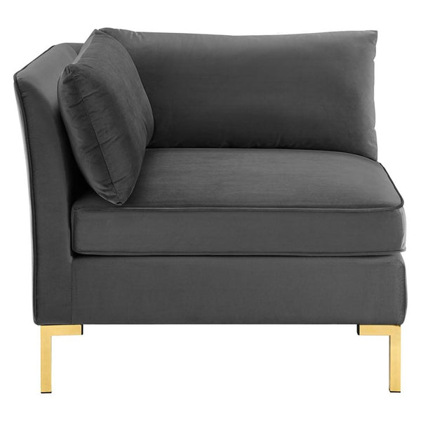 Elizabeth Velvet Sectional Sofa Corner Chair
