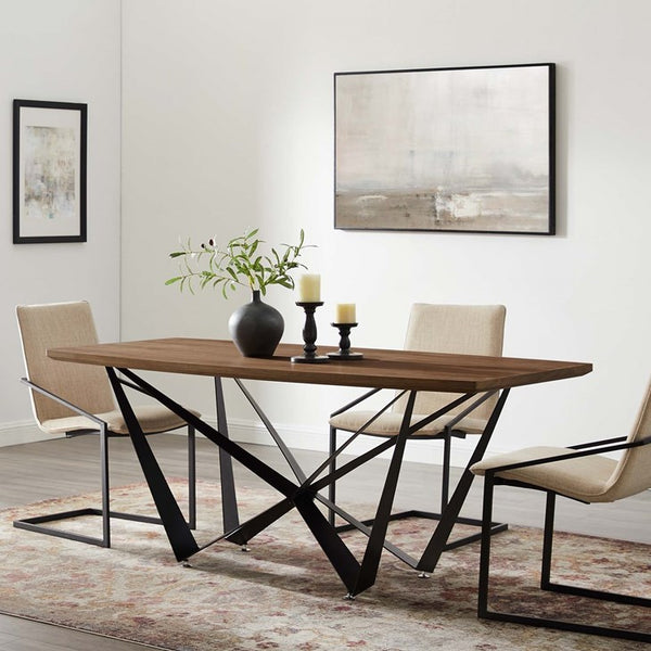 Parallel Walnut Dining Table