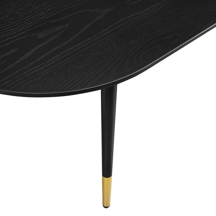 Florin Oval Coffee Table in Black