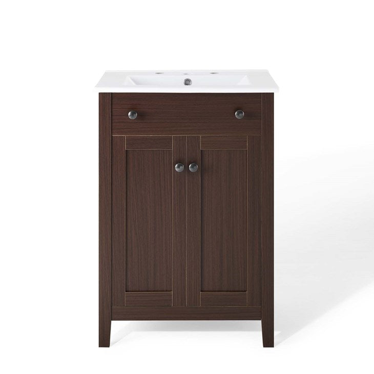 "Brellin 24"" Bathroom Vanity in Walnut White"
