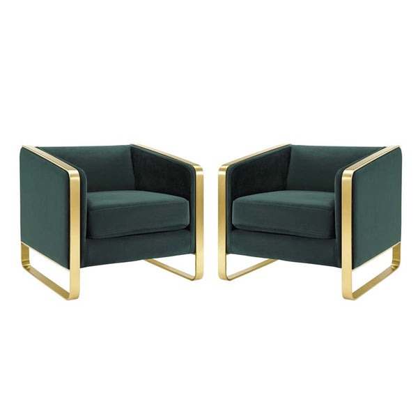 Velia Armchair Performance Velvet Set of 2