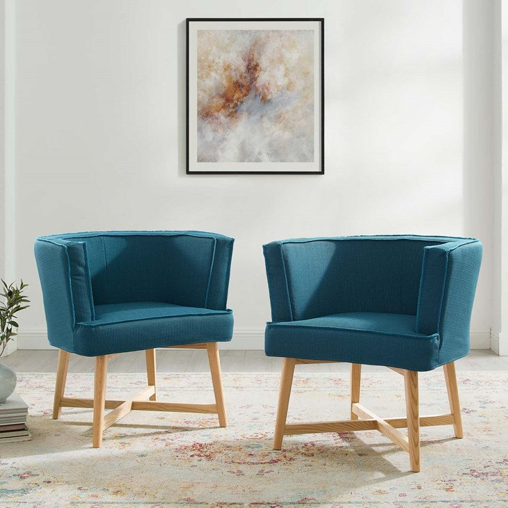 Glish Accent Chair Upholstered Fabric Set of 2