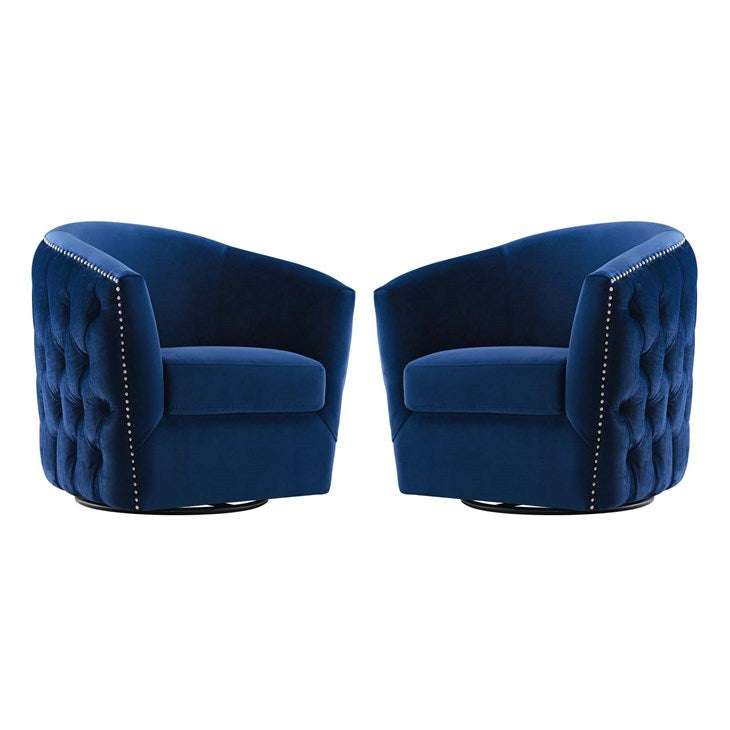Rosar Armchair Performance Velvet Set of 2