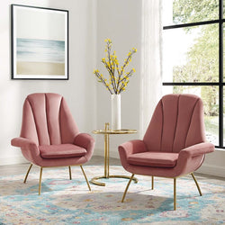 Epheria Armchair Performance Velvet Set of 2