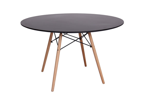 Eiffel Round Wood Top Dining Table - living-essentials