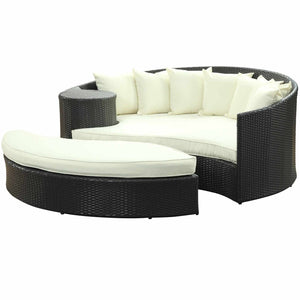 Havana Daybed Espresso / White Outdoor Daybeds Free Shipping