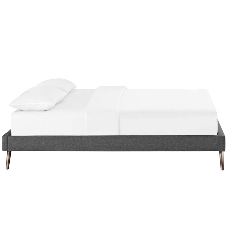 Lona Queen Bed Frame with Round Splayed Legs - living-essentials