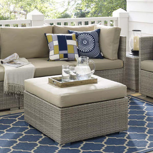Render Sunbrella® Fabric Outdoor Patio Ottoman Free Shipping