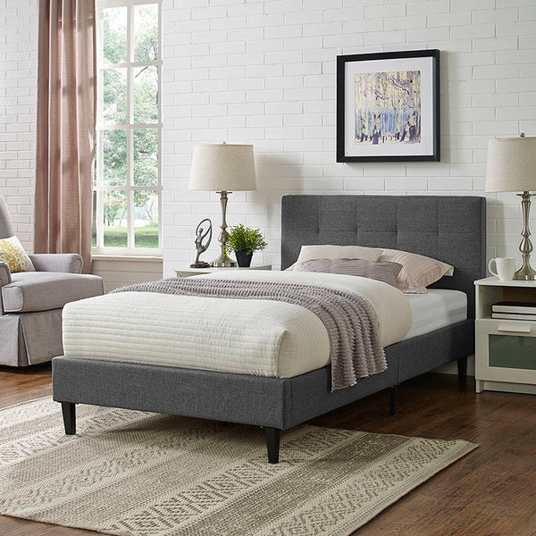 Linda Twin Fabric Bed Frame - living-essentials