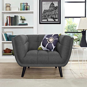 Becca Upholstered Fabric Chair Gray Free Shipping