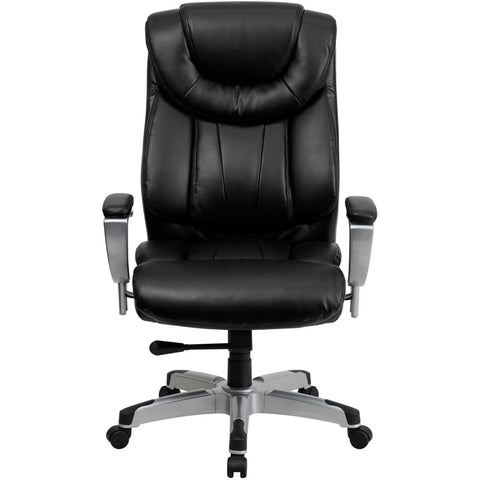 big and tall office chair emfurn 1 - Gray Leather Office Chair