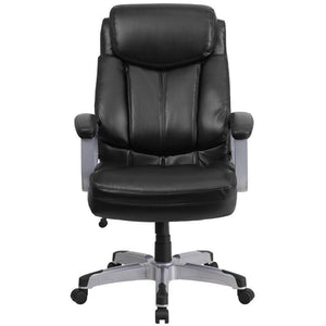 Capacity Big & Tall Black Leather Executive Office Chair Chairs Free Shipping