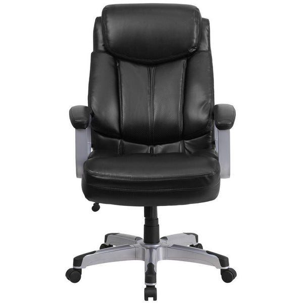 Capacity Big & Tall Black Leather Executive Office Chair - living-essentials