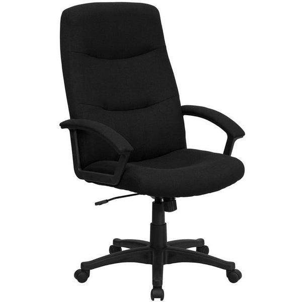 Black Fabric Office Chair - living-essentials
