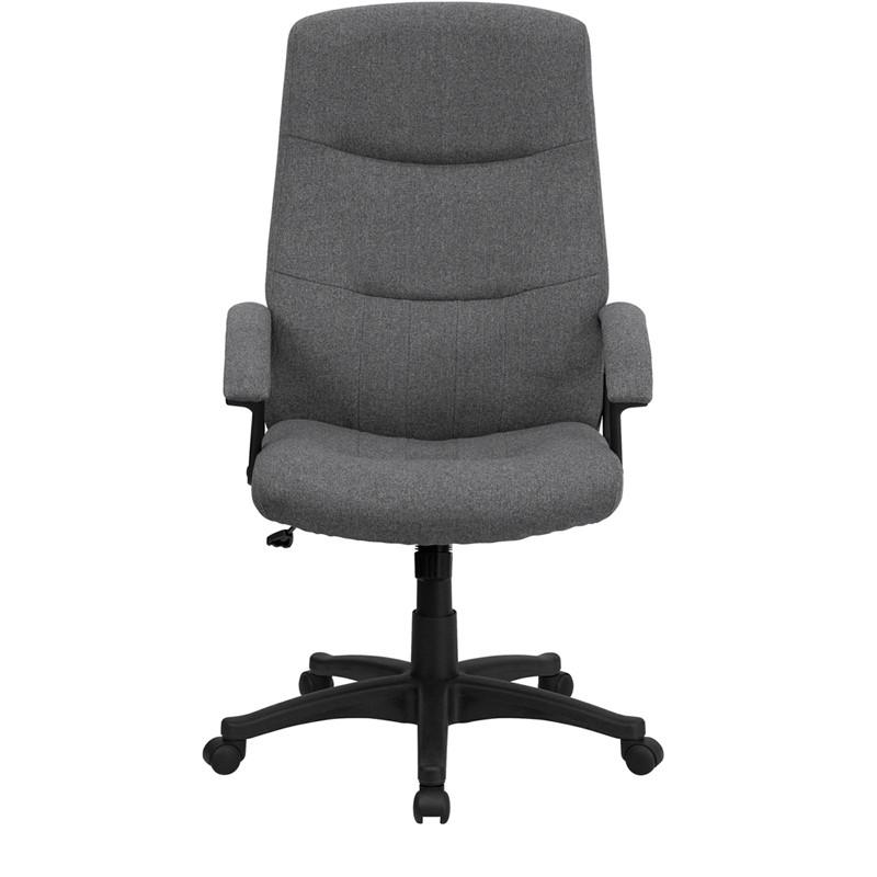 Gray Fabric Office Chair - living-essentials