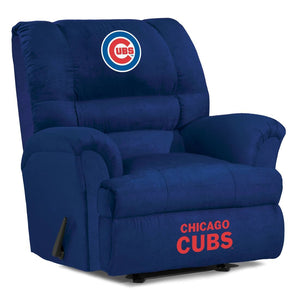Chicago Cubs Big & Tall Microfiber Recliner