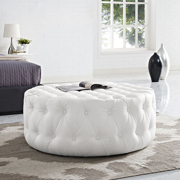 Love Vinyl Ottoman - living-essentials