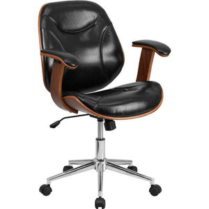 Ryan Executive Office Chair Mid-Back Black Chairs Free Shipping